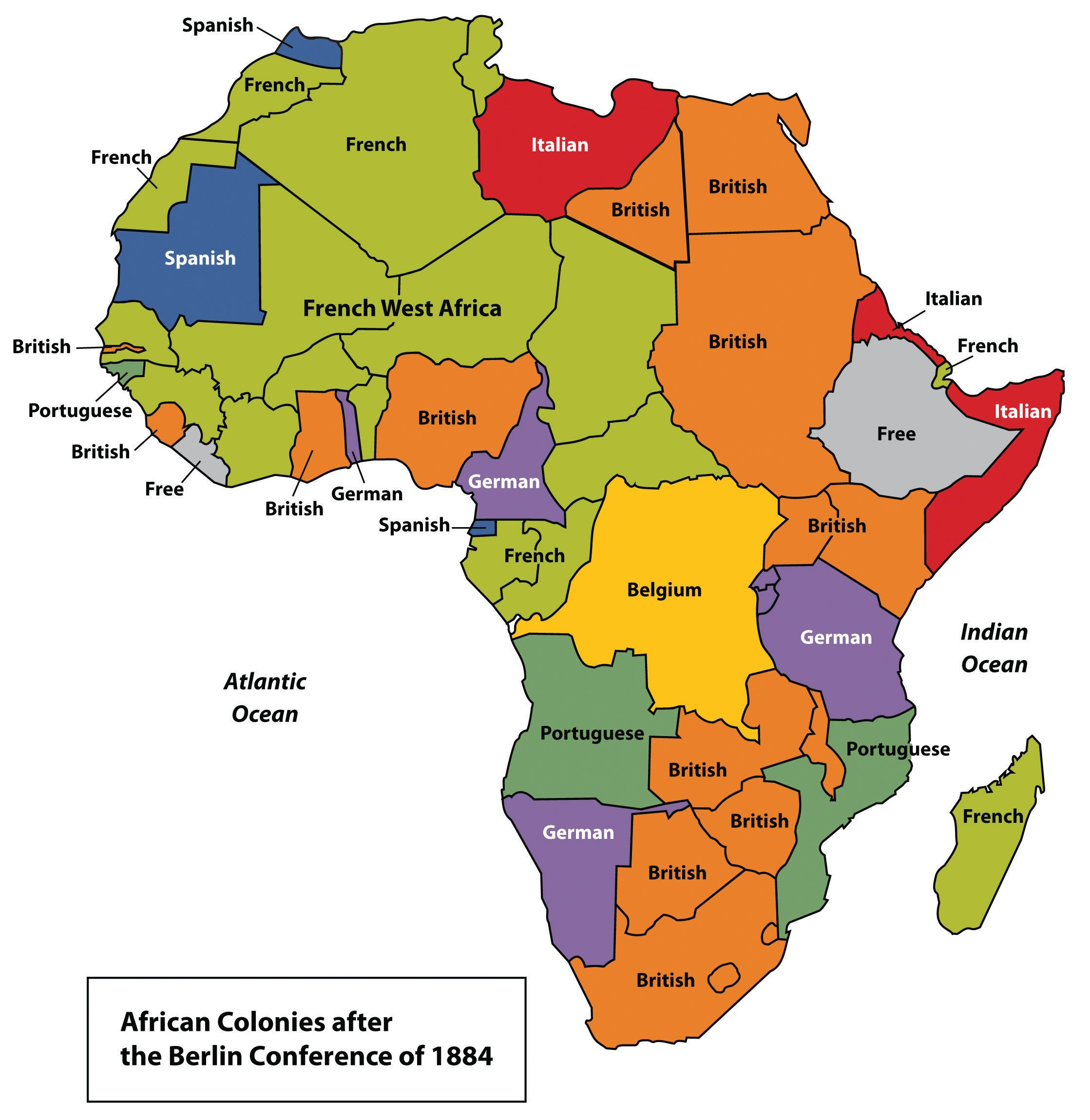 European Colonies In Africa 1884 Africa African Map
