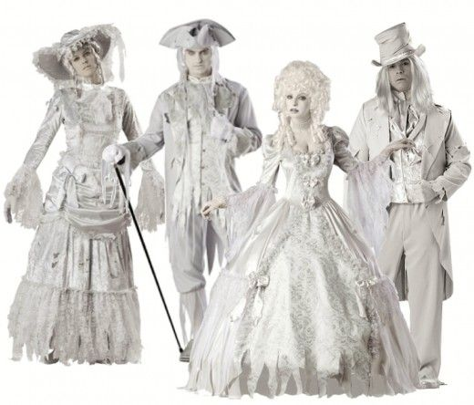 Brand New Ghostly Gent Victorian Ghost Adult Costume