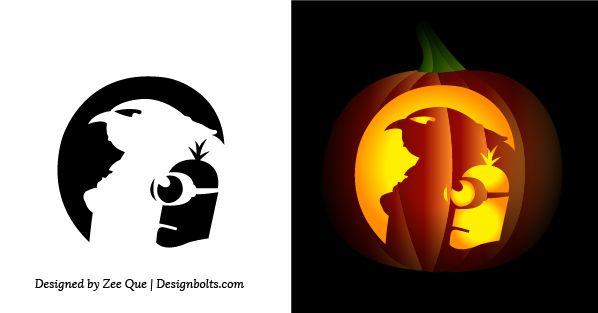 free simple easy pumpkin carving stencils patterns for kids 2014 rh pinterest com  easy minion pumpkin carving stencils