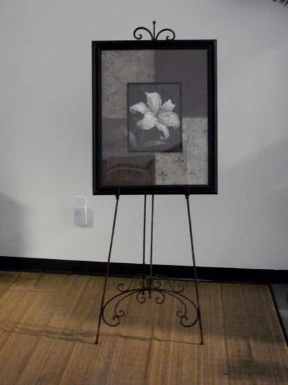 Our wrought iron floor easel for rent #Atlanta #rental #easel #iron ...
