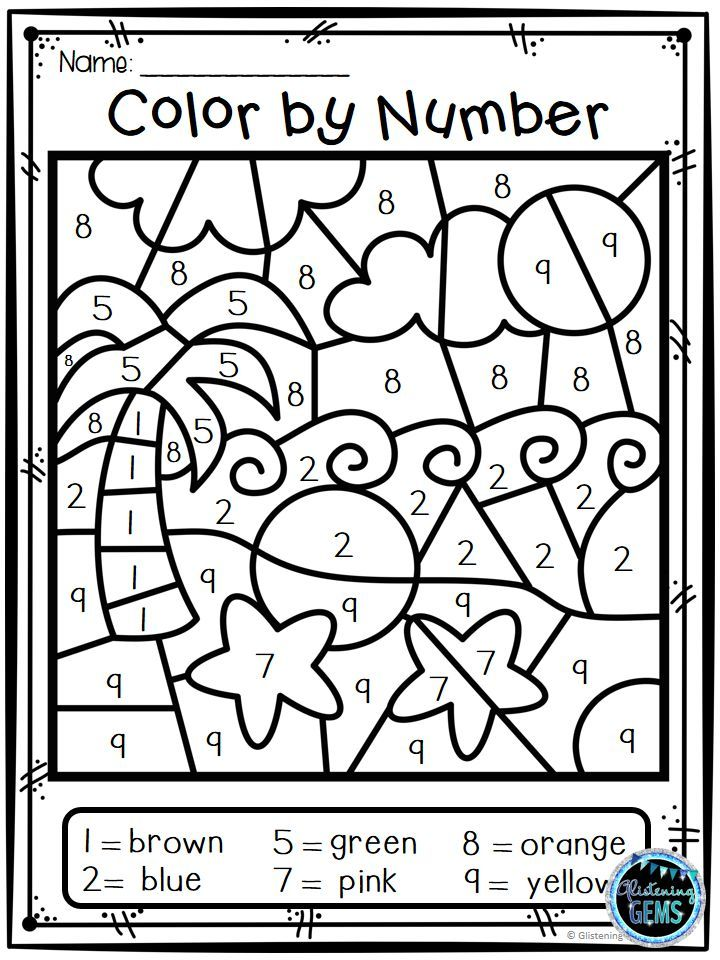 Your students will have fun coloring these 8 Summer Color by