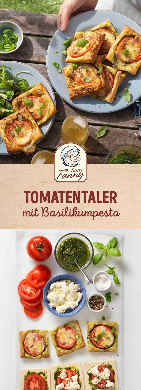 tomatentaler mit basilikumpesto rezept essen und trinken pinterest. Black Bedroom Furniture Sets. Home Design Ideas