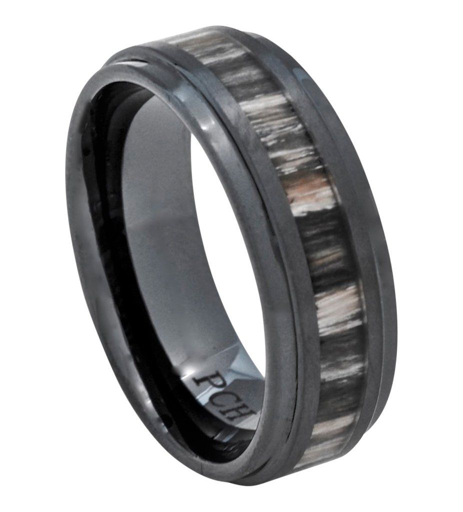 Black Ceramic Wood Ring With Zebra Wood Inlay 8mm Comfort Fit Wedding Band Black Ceramic Ring Ceramic Wedding Ring Unique Diamond Engagement Rings