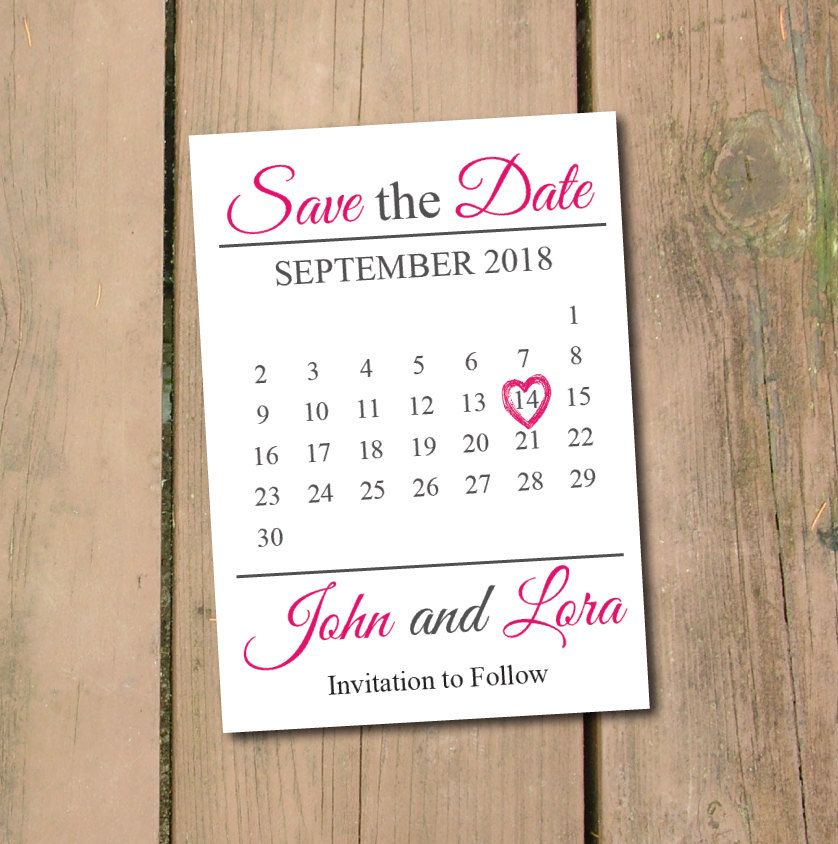 save the date calendar template save the date postcard printable save the date announcement save. Black Bedroom Furniture Sets. Home Design Ideas