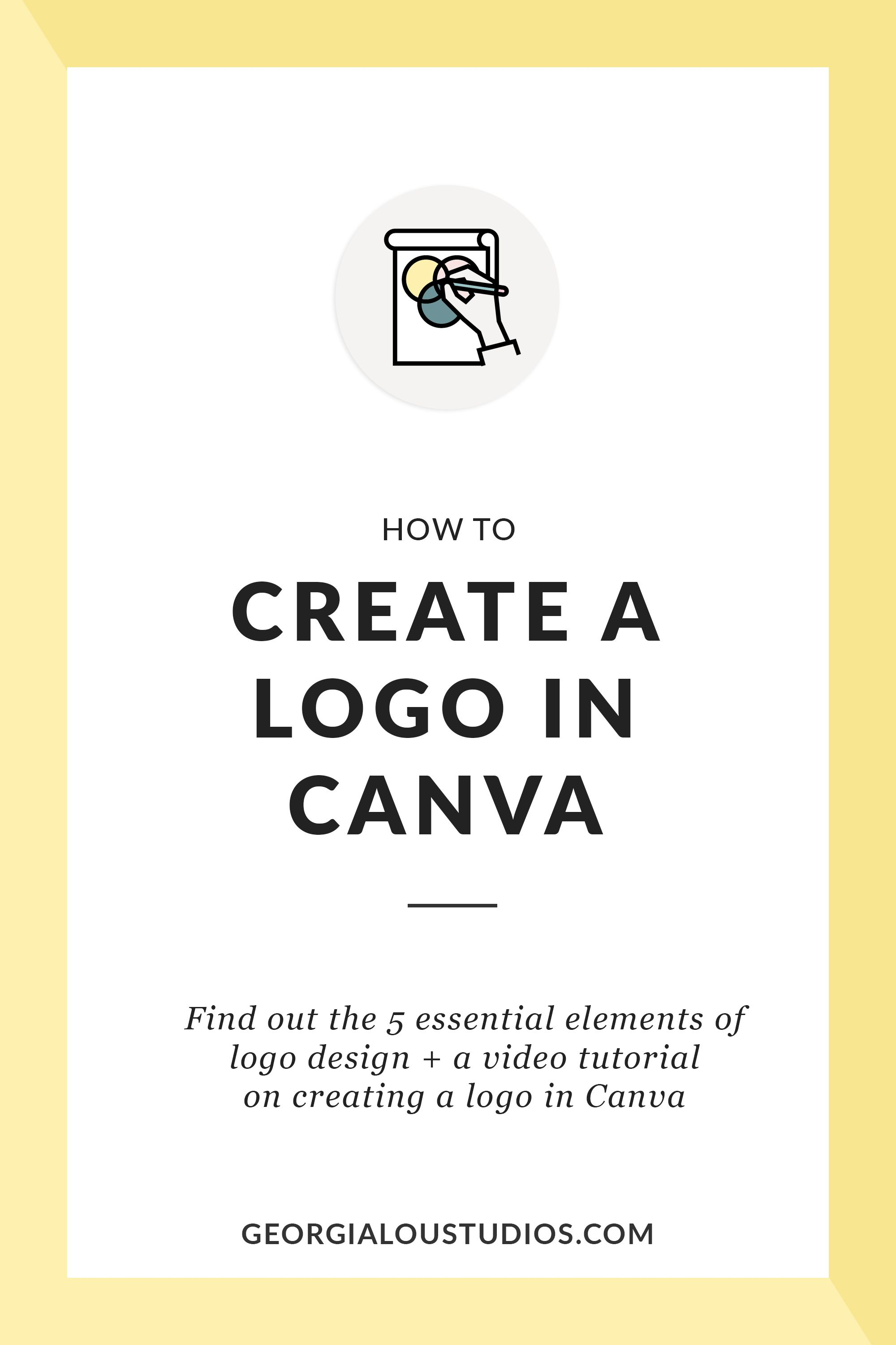How to Create a Logo in Canva + Video Tutorial Create a