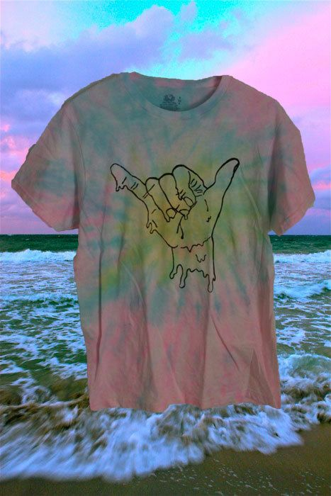 CUSTOM DYED melting hang loose shirt by STRUNGGOUTT on Etsy, $20.00