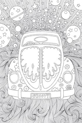 VW Beetle Coloring Page Reminds Me Of Peter Max Art