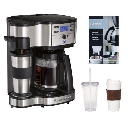 Hamilton Beach 49980 2 Way Brewer Coffeemaker Coffee Espresso Descaler 2 Pack Coffee Mug Iced Bev Coffee Maker With Timer Dual Coffee Maker Coffee Maker