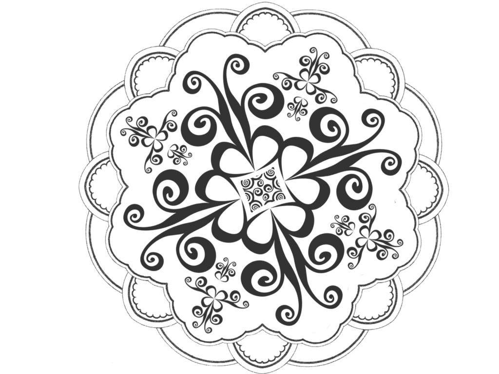 Black and white designs for diwali