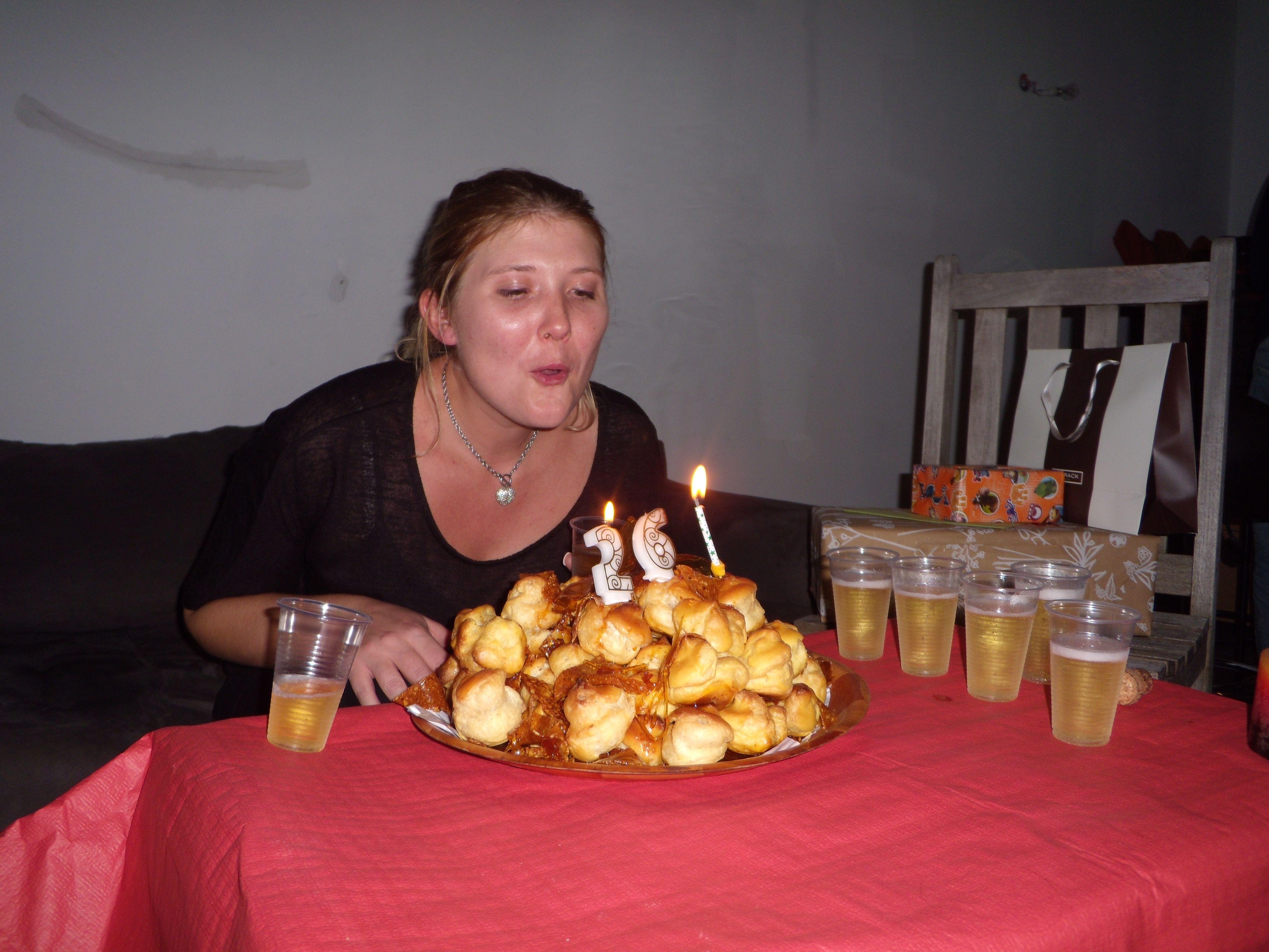 pièce montée anniversaire Marjolaine