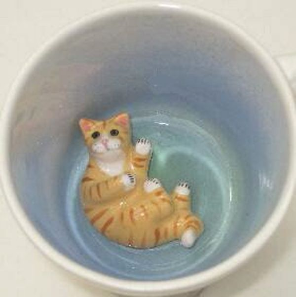 Animugs By Spademan Pottery Deliver Feline Surprises Catster Cat Coffee Mug Mugs Cat Coffee Cups