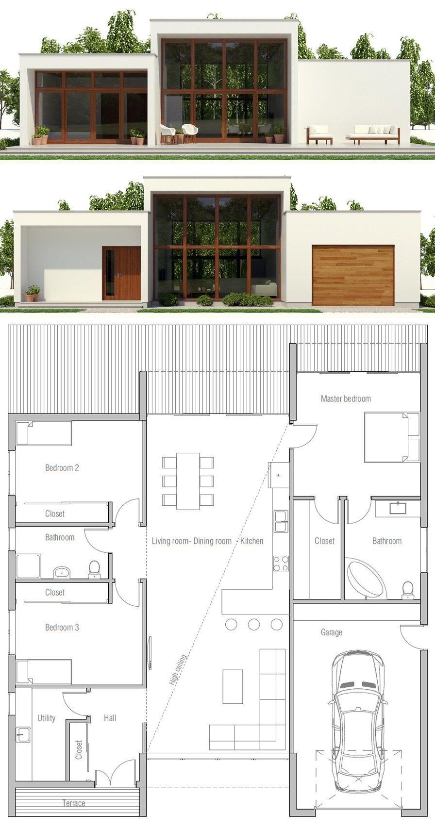 Casa Moderna Minimalist House Design Modern Minimalist House Sims House Plans