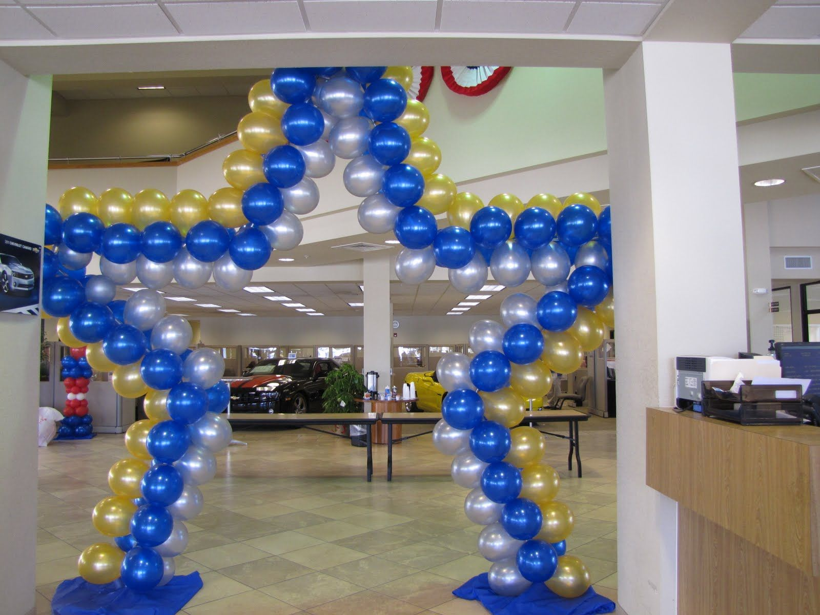 Quinceanera entrance decor company special event for Balloon decoration for quinceanera