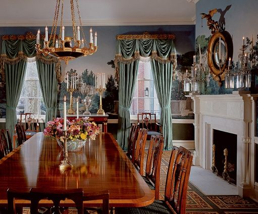 Gracie Wallpaper Dining Rooms  Urbanbydesign  Urbandesign Fair Mansion Dining Rooms Decorating Inspiration