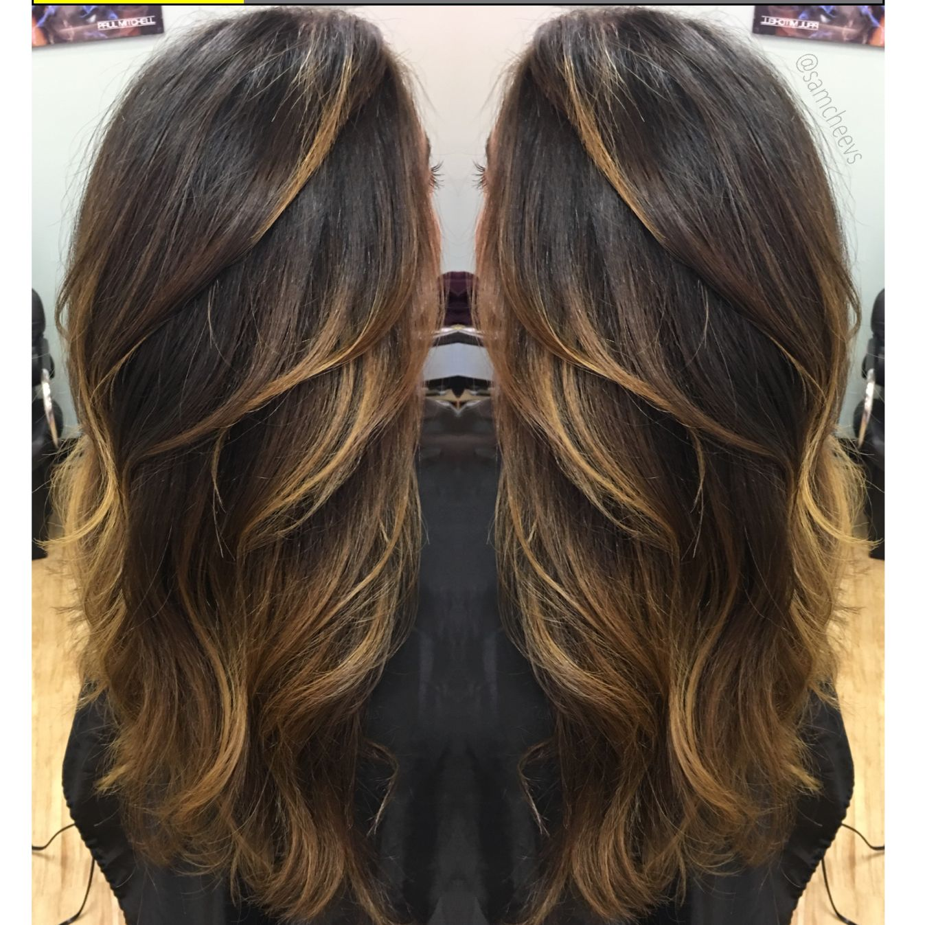 blonde highlights for dark hair types balayage ombr for black hair perfect blend hair. Black Bedroom Furniture Sets. Home Design Ideas
