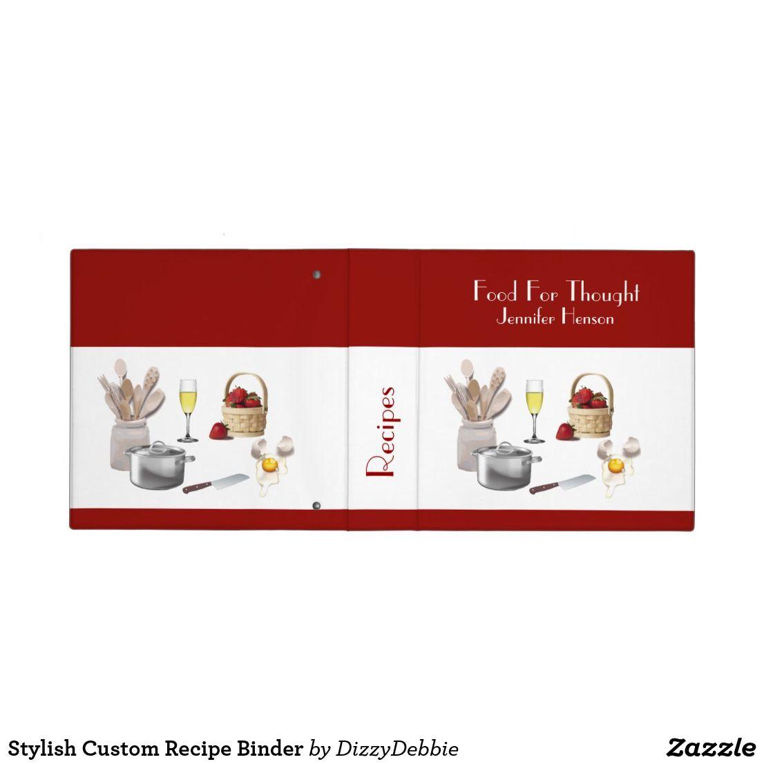 Stylish Custom Recipe Binder