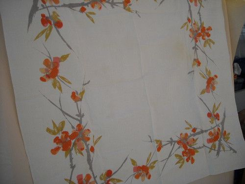 Vera vintage floral tablecloth square $33 free shipping