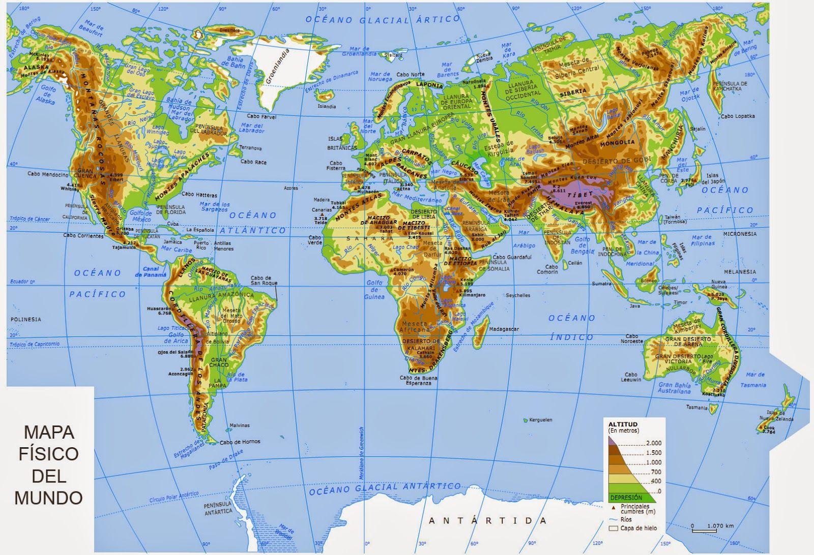 Mapa Fisic Del Mon Mapas Del Mundo Mapas Imagenes De Mapas