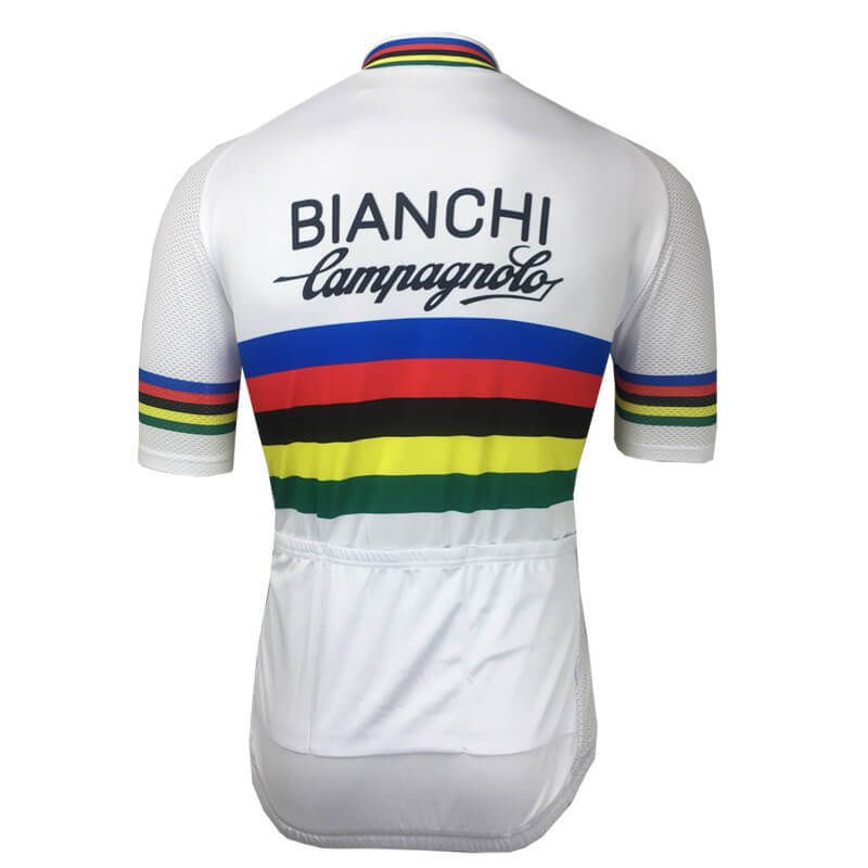 54c3970a3 Retro Team Bianchi Campagnolo world Champion Cycling Jersey