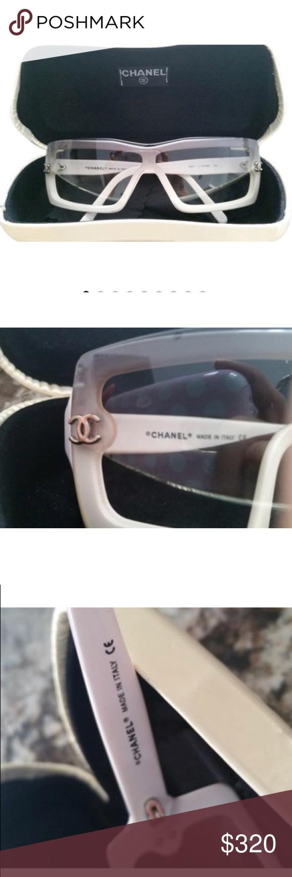 714b4485b8db Chanel White and Smokey Gray Sunglasses Chanel sunglasses. White and gray.  5067. Great condition. Comes with a Chanel case. CHANEL Accessories  Sunglasses