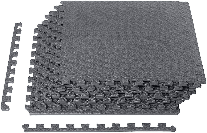 Amazon Com Amazonbasics Exercise Mat With Eva Foam Interlocking Tiles Sports Outdoors Interlocking Tile Gym Floor Mat Mat Exercises