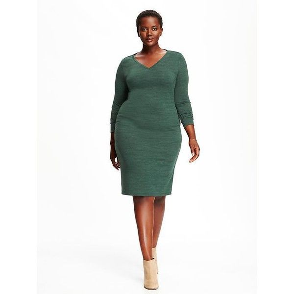 Old Navy Sweater Knit Plus Size Shift Dress 45 Liked On