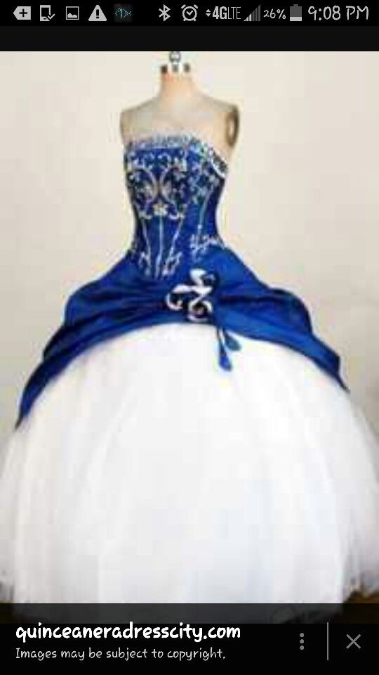 Beautiful Royal blue & white dress