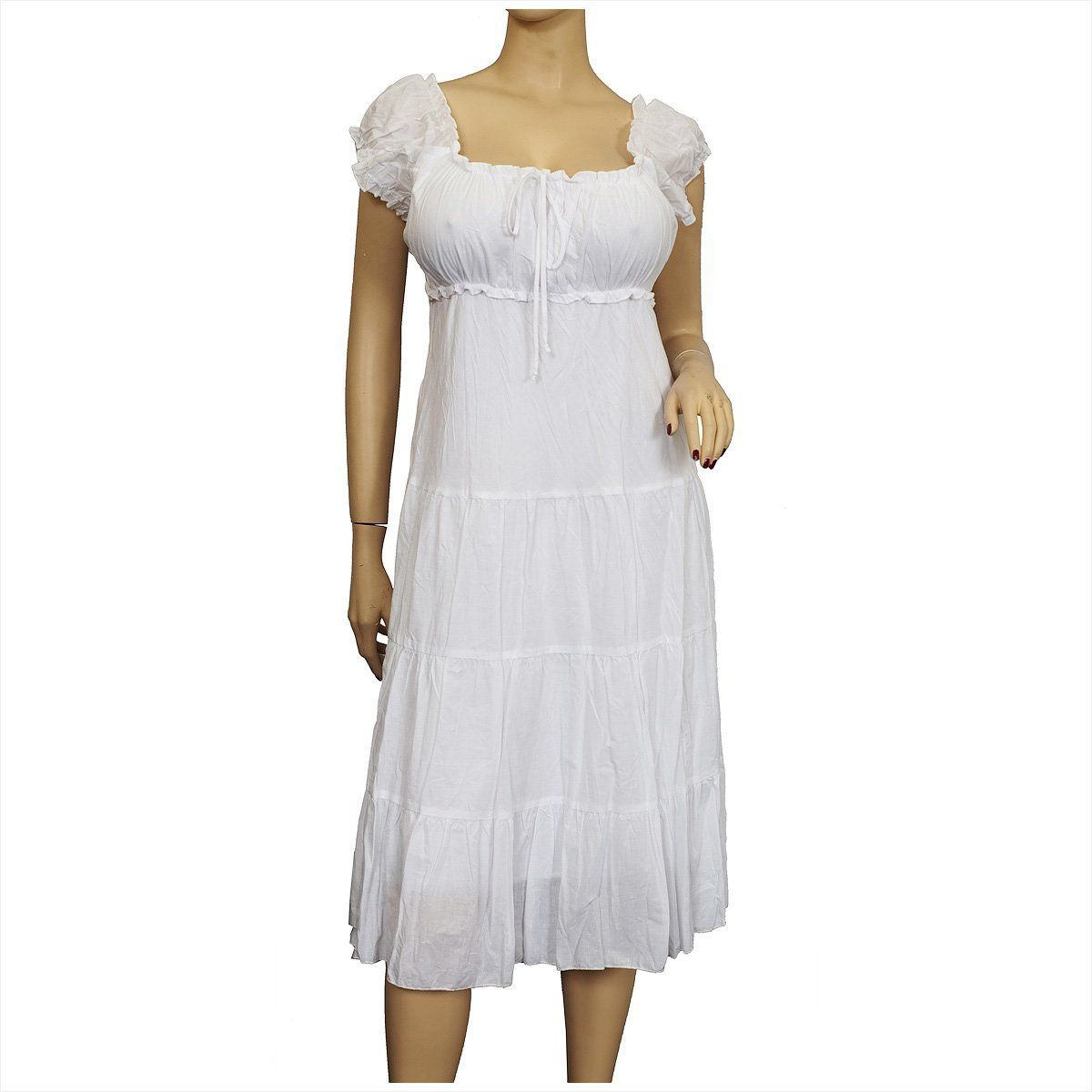 Whitecotton Empire Dress