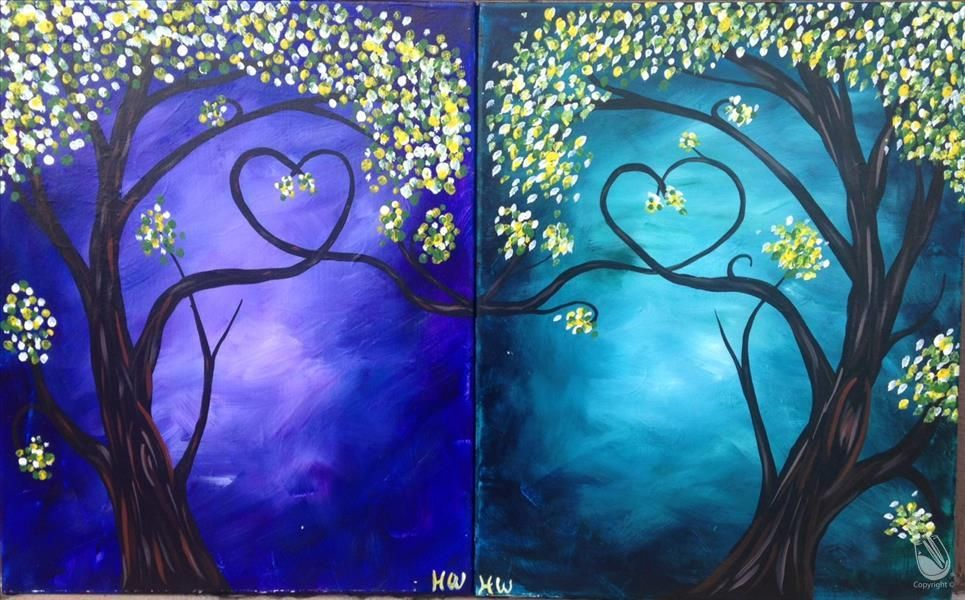 How to Paint DATE NIGHT! Our Love Tree Set Night