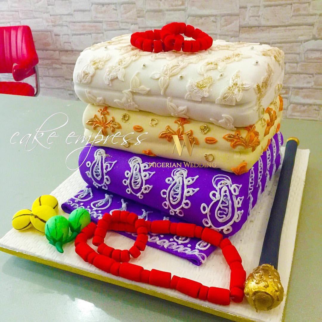 Yoruba traditional wedding decorations  Nigerian wrapper cake  Wedding  Pinterest  Cake Wedding cakes