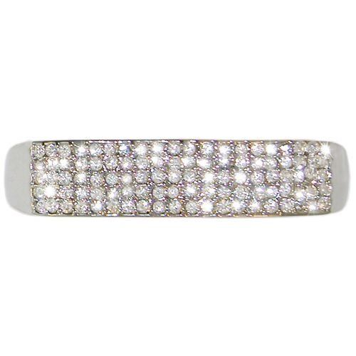 """3/8"""" Wide Pave 2 Finger Ring, Size 6 In Silver Tone . $19.99. Save 67% Off!"""