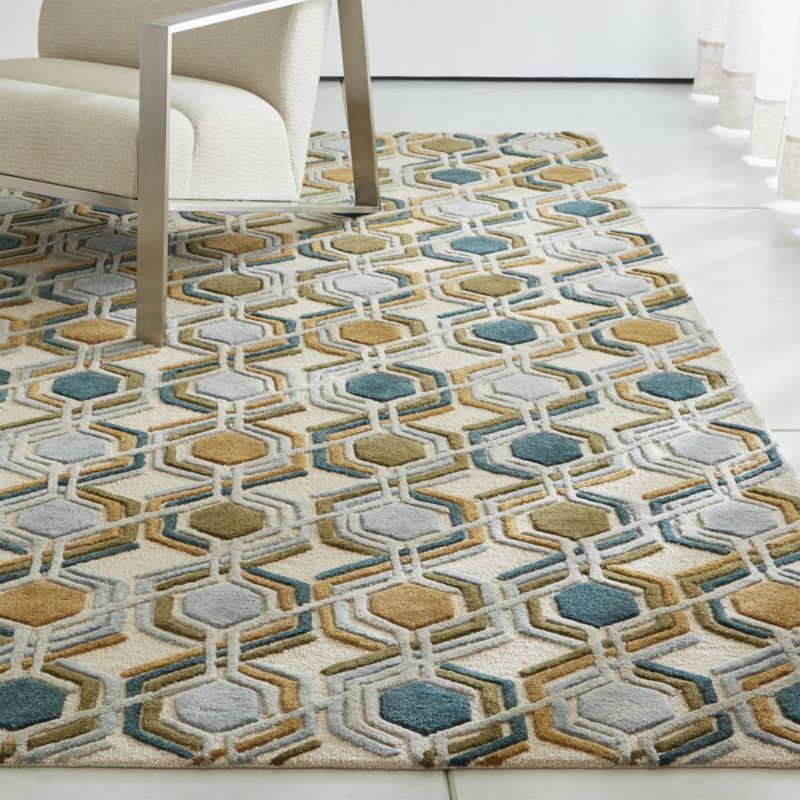 Riesco Mid Century Modern Rug Crate And Barrel Mid Century Modern Rugs Mid Century Rug Modern Area Rugs