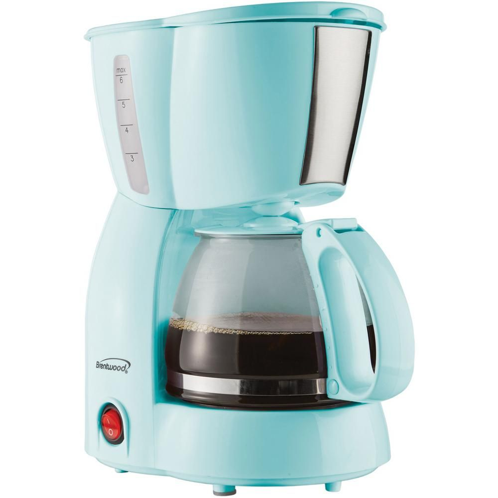 Brentwood 4cup blue coffee makerts213bl the home