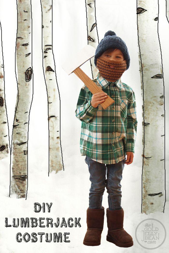 DIY Lumberjack Halloween Costume from thegoldjellybean LOVE that - halloween costumes with beards ideas
