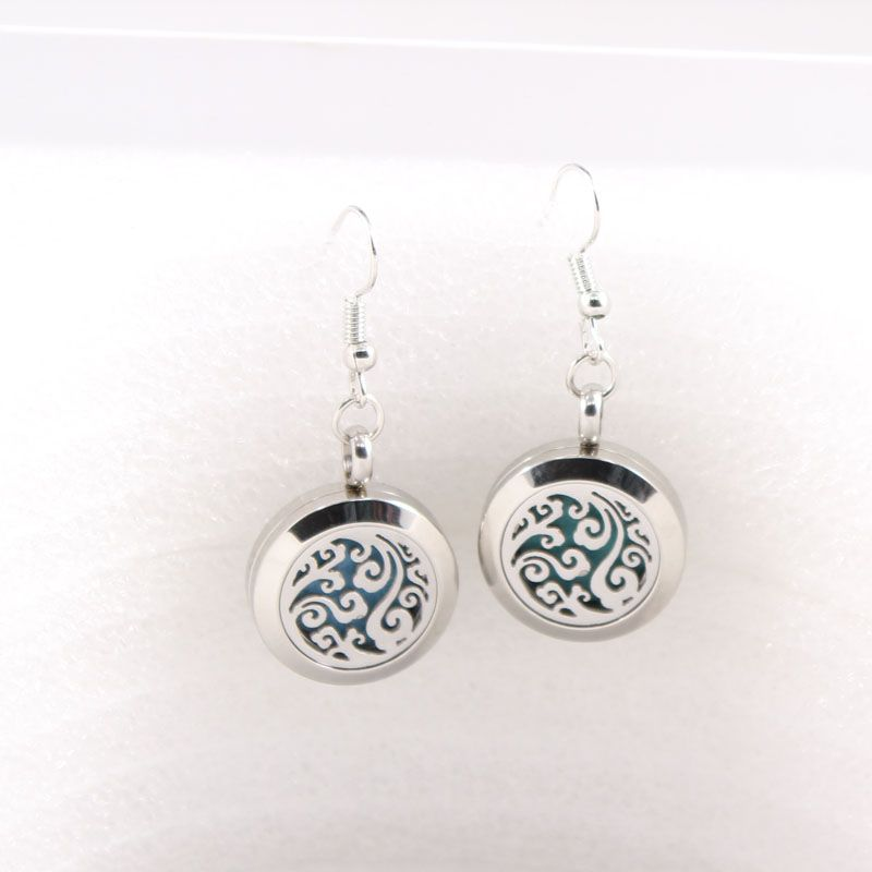 20mm Crystal Perfume Locket Earrings Aroma Essential Oil Diffuser Drop Earrings Health & Beauty
