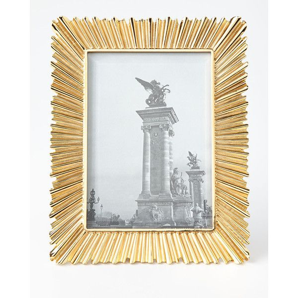 L Objet Ray Gold Plated 5 X 7 Frame 300 Liked On Polyvore Featuring Home Home Decor Frames Handmade Picture Frames Framed Photo Collage Picture Frames
