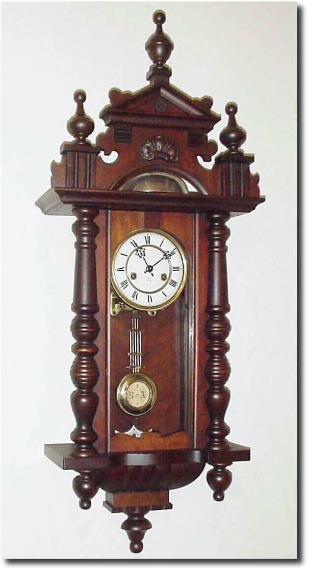 WOODEN SET FINIALS  TO THE ANTIQUE CLOCK VIENNA REGULATOR BECKER LENZKIRCH No.15