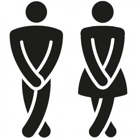 Bien connu Signalétique toilette humoristique - Pictogramme toilette  BD77