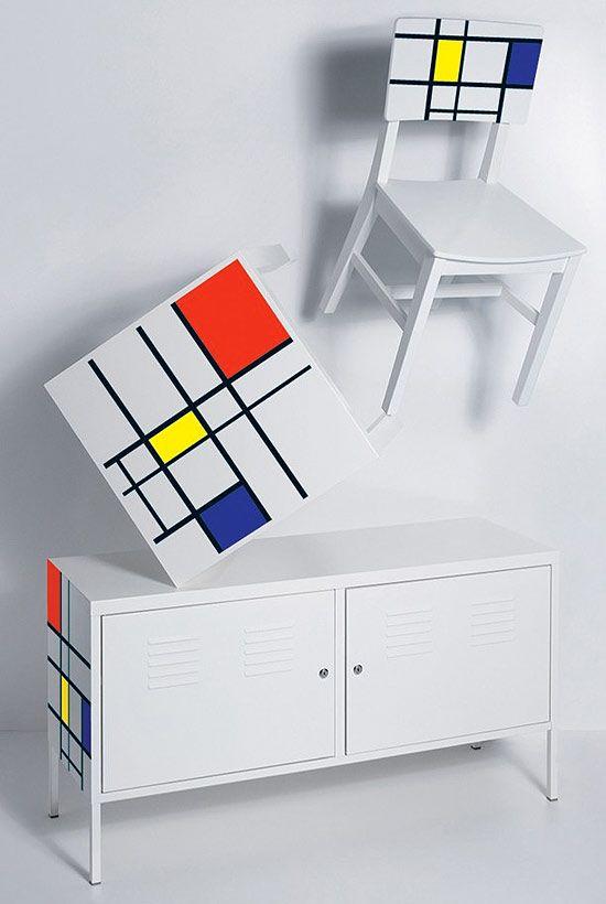 Mondrian Furniture piet mondrian inspired furniture. | house | pinterest | mondrian