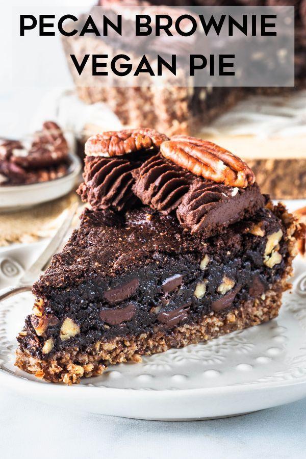 Photo of Pecan Brownie Vegan Pie