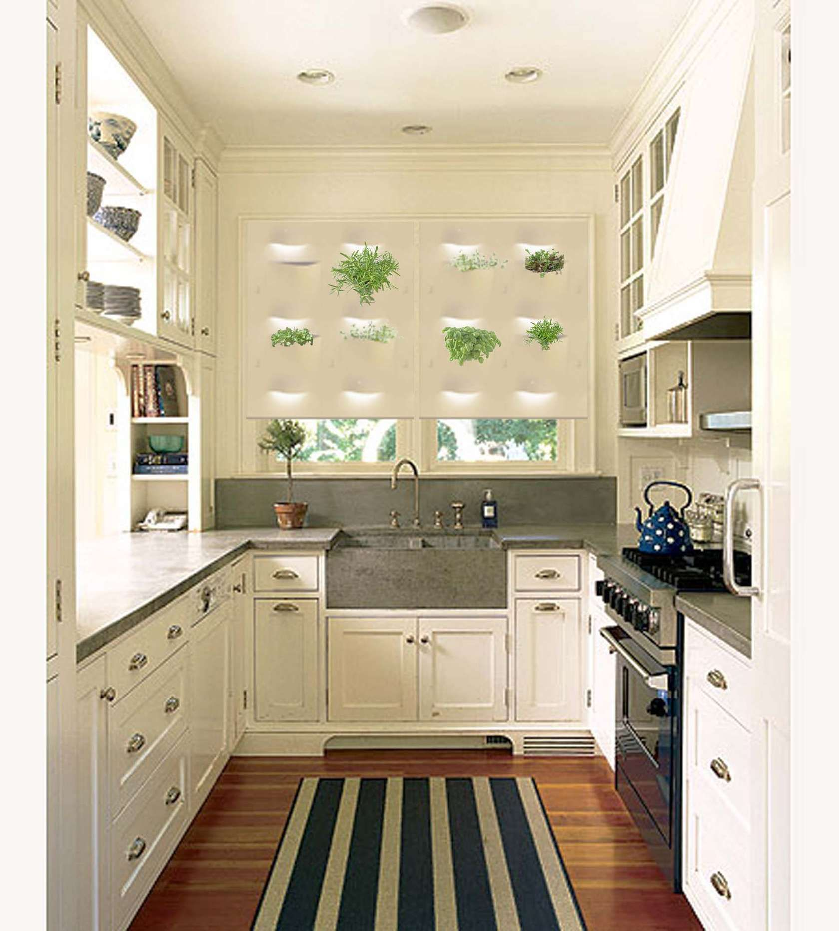 Vintage White Small U Shaped Kitchen Design Victorian Terrace | Home ...