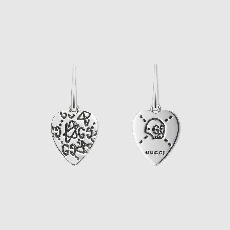 f736e7b6217 GucciGhost earrings in silver