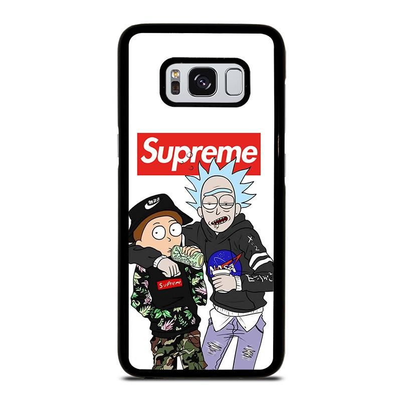 new style 0d62f 74a77 SUPREME RICK AND MORTY Samsung Galaxy S4 S5 S6 S7 S8 S9 S10 S10e ...