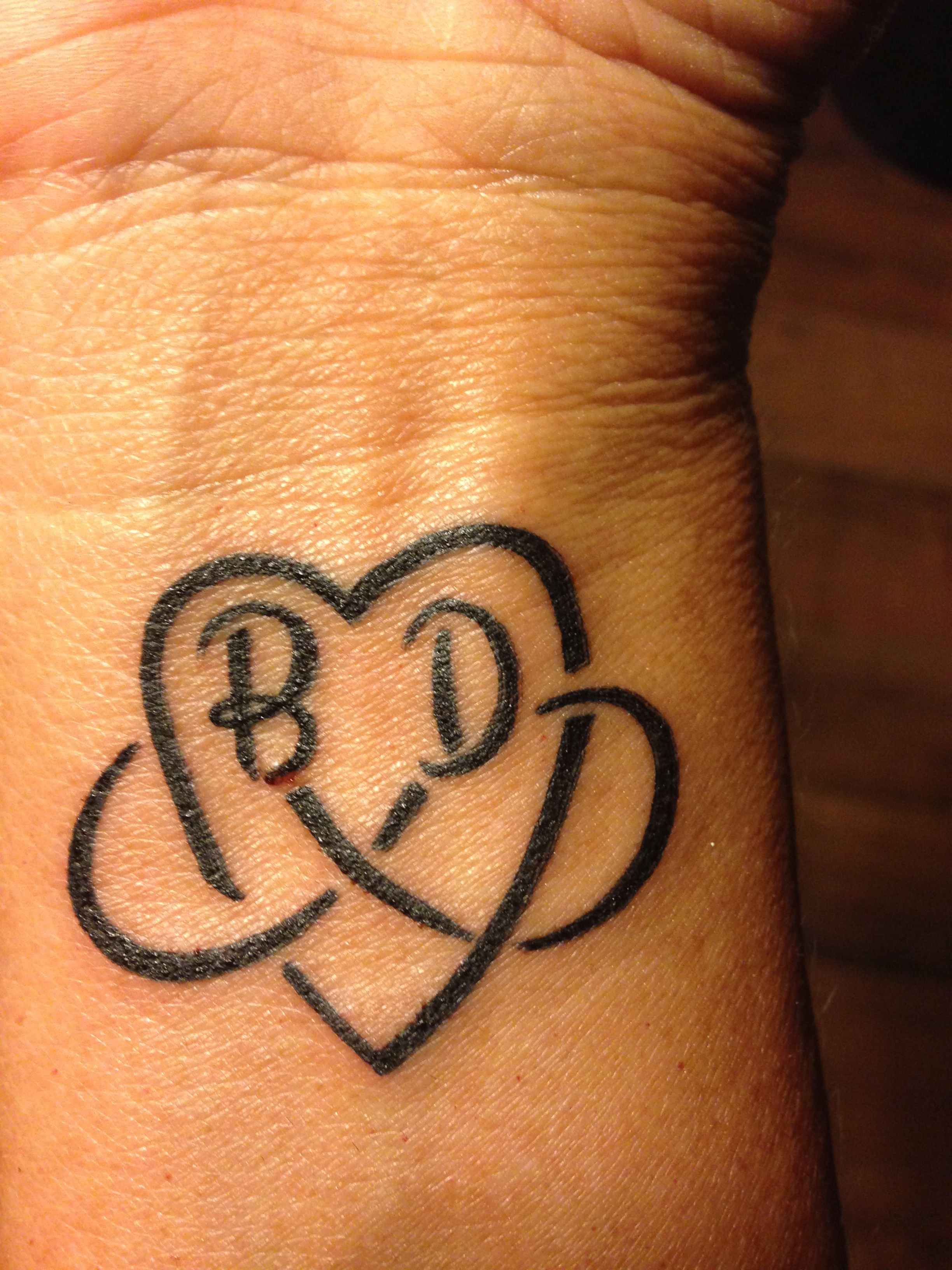 My first tattoo! I love my boys for Infiniti, just a little reminder that I always have them no matter where I go in life!