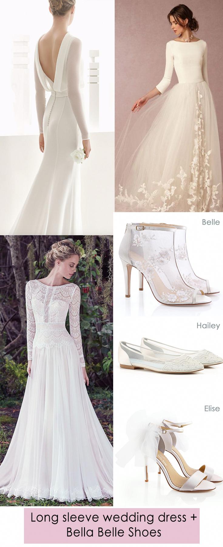 White Lace Backless Elegant And Vintage Long Sleeve Wedding