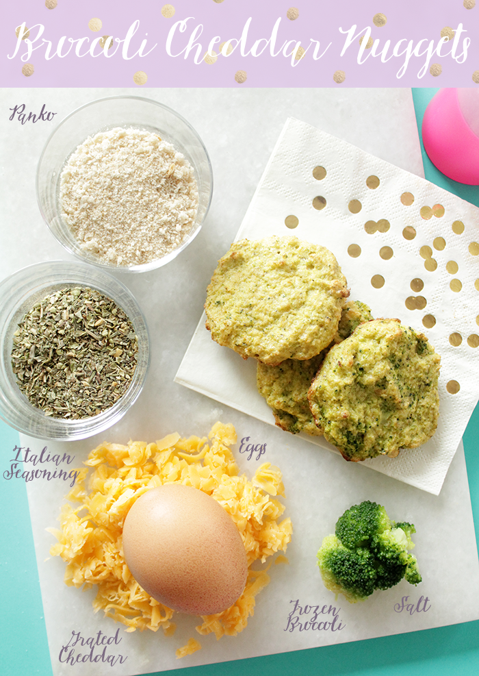 This is a very sneaky (and delicious) way to get your kiddos to eat their broccoli! Broccoli and Cheddar Nuggets will quickly become a family favorite