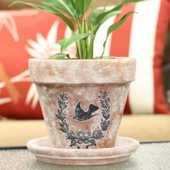 A few easy steps can take you from a plain flower pot to a unique one. Treat your plants to a personalized home this season!