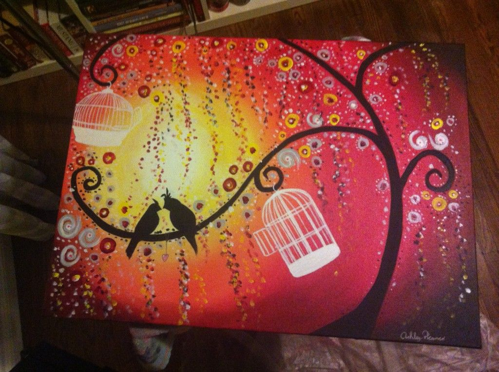 Canvas painting ideas for beginners acrylic painting for for Three canvas painting ideas