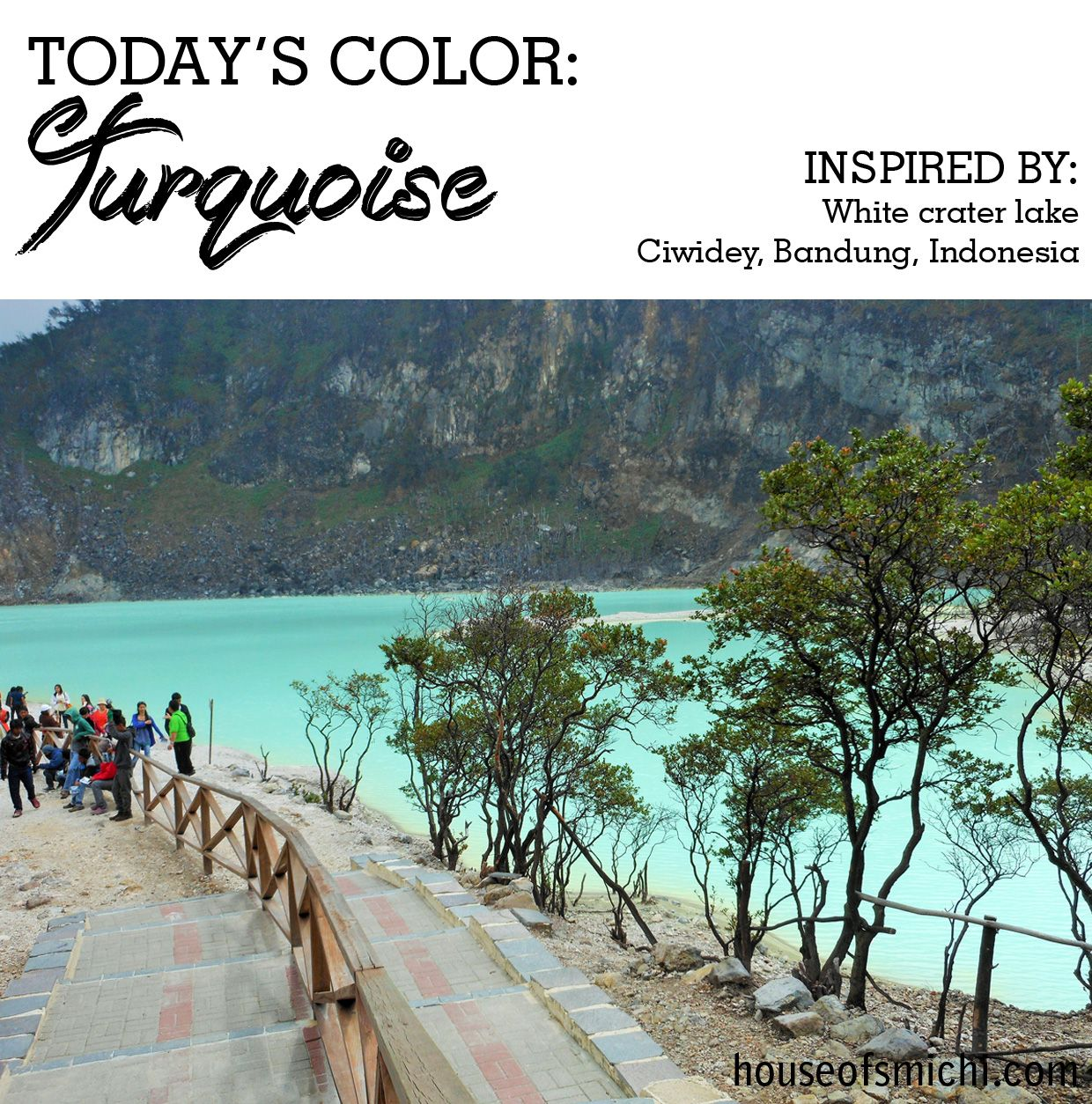 Turquoise color inspired by White Crater Lake in Bandung
