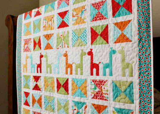 8 Sweet Baby Girl Quilt Patterns That'll Make You Swoon | Giraffe ... : modern baby quilt patterns - Adamdwight.com